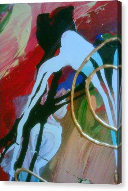 Canvas Print featuring the painting Twisted Mind by Ray Khalife