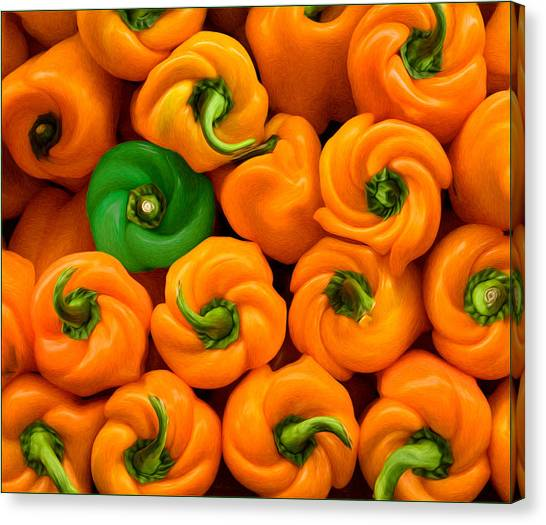 Twisted Peppers Canvas Print