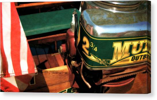 Two And Three Quarters Hp Muncie Outboard Motor Canvas Print