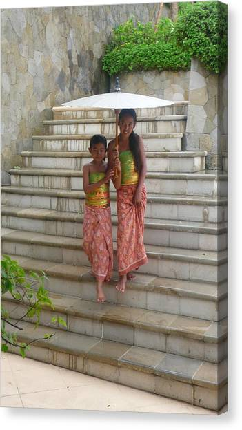 two Bali Beauties  Canvas Print by Jack Adams