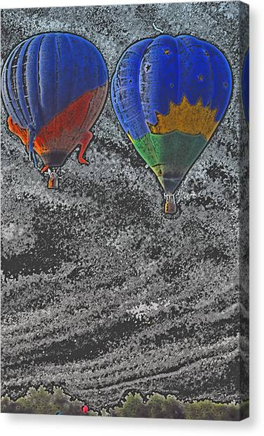 Two Balloons In Colored Pencil  Canvas Print