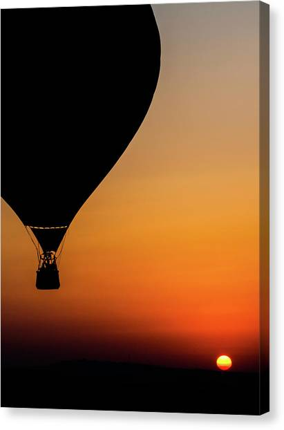 Hot Air Balloons Canvas Print - Two Balloons by Tomer Eliash