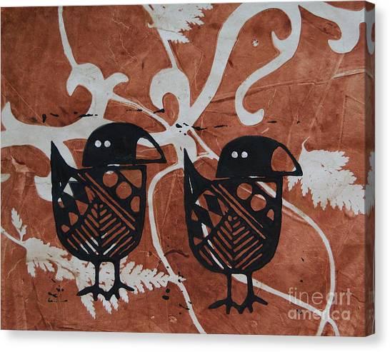 Two Beaks Canvas Print