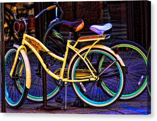 Two Bikes Canvas Print