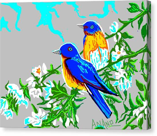 Two Birds Canvas Print by Anand Swaroop Manchiraju