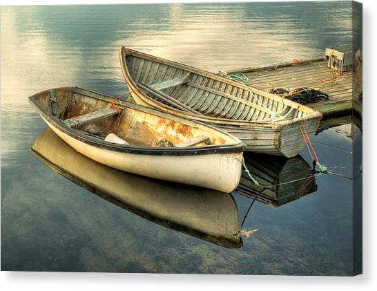Two Boats At Peggys Cove Canvas Print