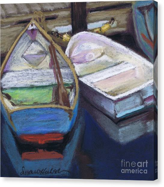 Two Boats Bernard Canvas Print by Susan Herbst