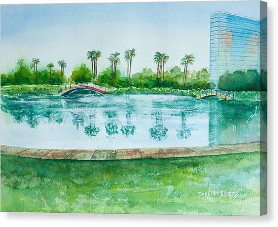 Two Bridges At Rainbow Lagoon Canvas Print
