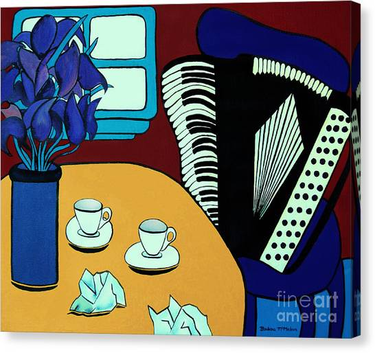 Two Cups One Accordian Canvas Print