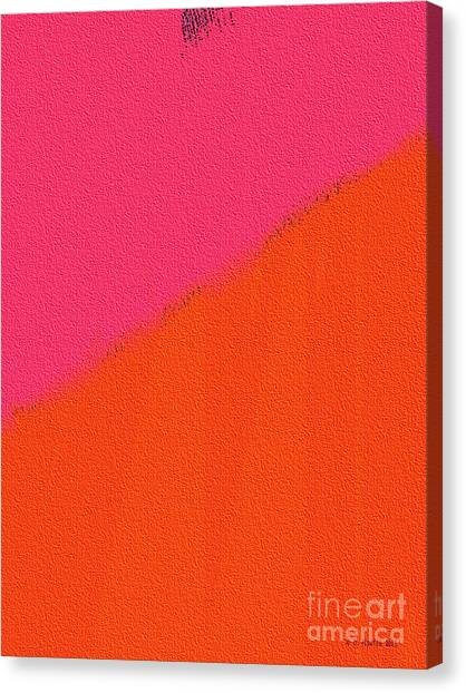 Canvas Print featuring the digital art Two Degrees Of Separation by Dee Flouton