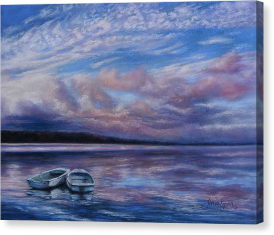 Two Dorys Waterscape  Canvas Print