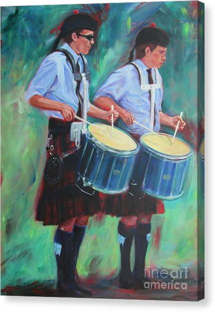 Two Drummers Canvas Print