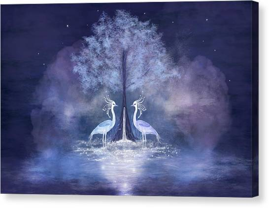 Two Fabulous Herons Canvas Print