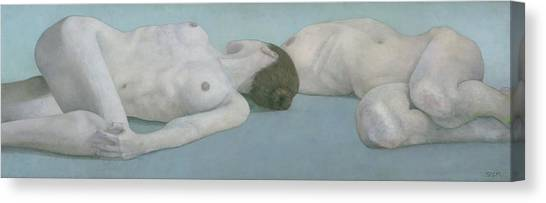 Two Figures Lying Canvas Print