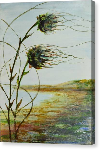 Two Flowers By The Bay Canvas Print