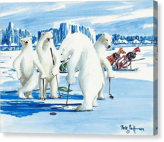 Two Foot Putt Canvas Print by Bob Patterson