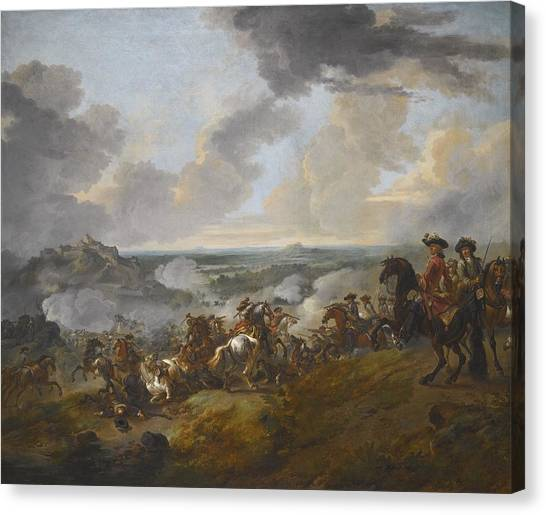 Wyck Canvas Print - Two Generals Looking Out Over A Battle by Celestial Images