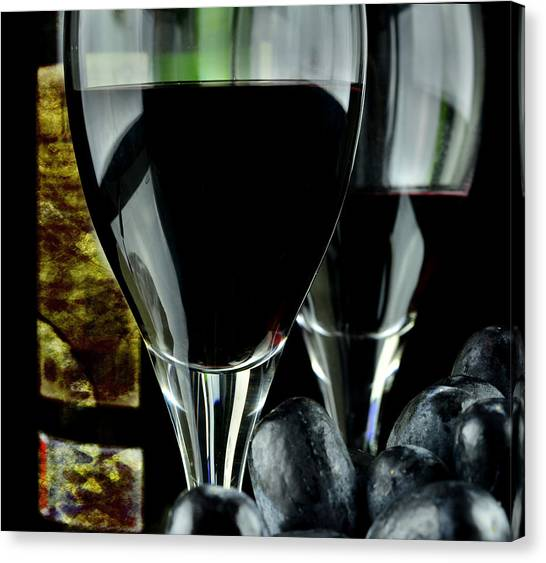 Two Glasses With Red Wine Canvas Print