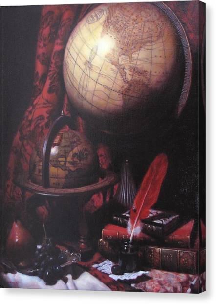 Two Globes Canvas Print by Takayuki Harada
