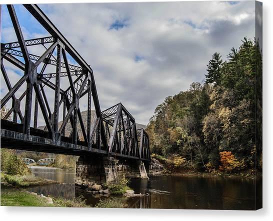 Two Iron Bridges Canvas Print by Anthony Thomas