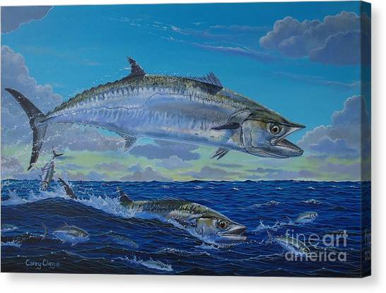 Tiger Sharks Canvas Print - Two Kings by Carey Chen