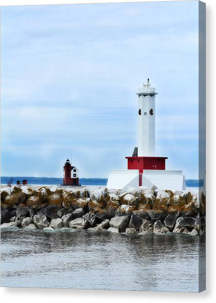 Two Lighthouses Canvas Print