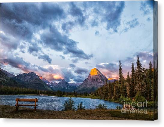 Two Medicine Lake Sunrise Canvas Print