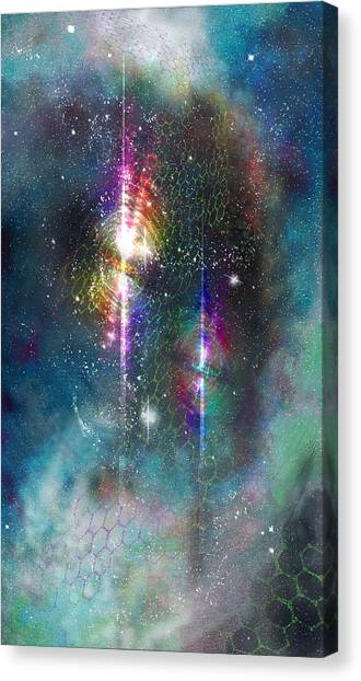 Two Of Wands/stars - Artwork For The Science Tarot Canvas Print
