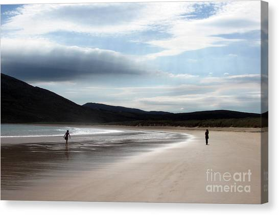 Two On A Beach Canvas Print