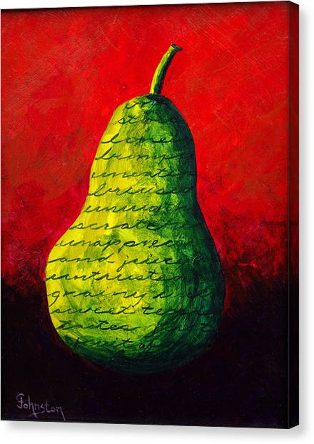 Canvas Print - Two Pair - Green by Cindy Johnston
