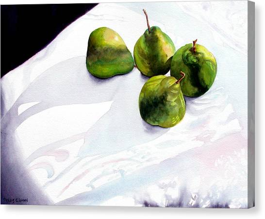 Two Pair Of Pears Canvas Print