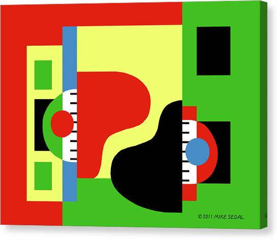 Two Pianos Canvas Print