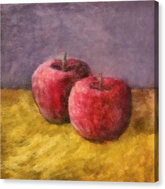 Two Red Apples No. 1 Canvas Print