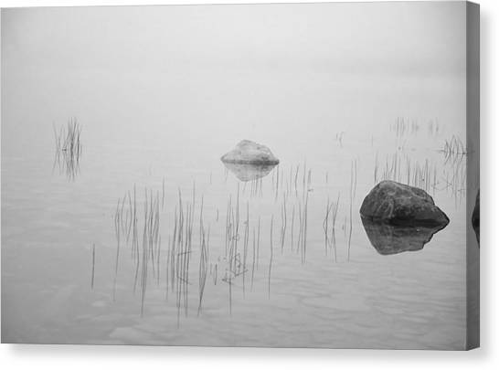 Two Rocks Bw Canvas Print