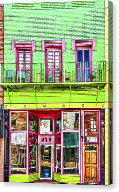 Smokehouses Canvas Print - Two Seven Five by Maria Coulson