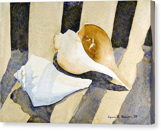 Two Shells Canvas Print