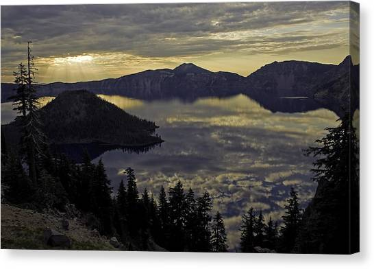 Two Skys At Sunrise Canvas Print