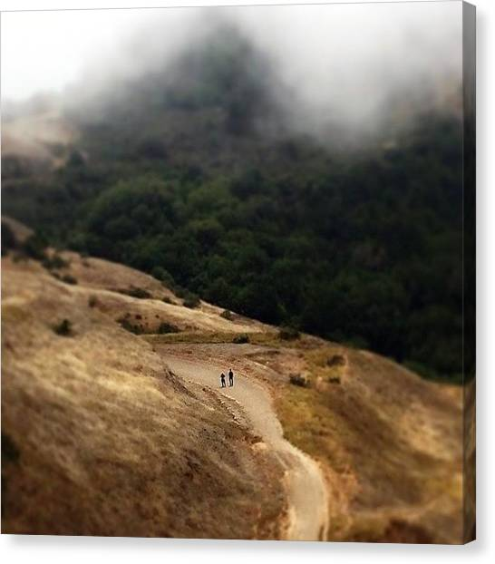 Dirt Road Canvas Print - Tiny People by Tom Parrette