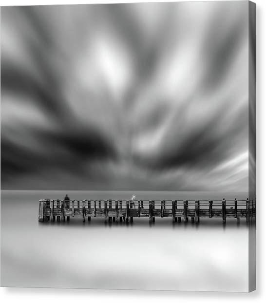 Long Exposure Canvas Print - Two Strangers by George Digalakis