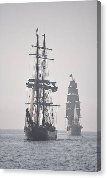 Two Tall Ships In Door County Canvas Print
