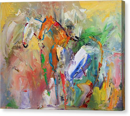 Canvas Print - Two Together Horse 29 2014 by Laurie Pace