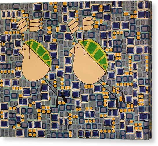 Two Turtledoves Canvas Print