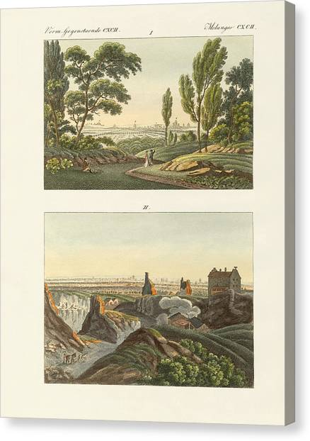 Le Louvre Canvas Print - Two Views Of Paris by Splendid Art Prints