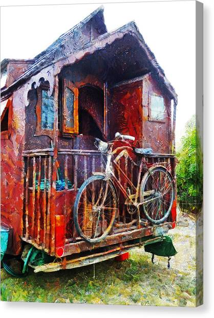 Two Wheels On My Wagon Canvas Print