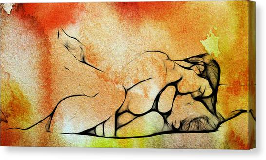 Expressionism Canvas Print - Two Women 2 by Steve K