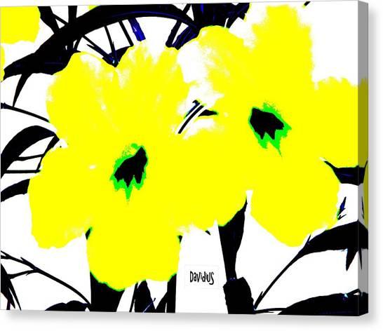 Two Yellow Jacks W Logo Canvas Print