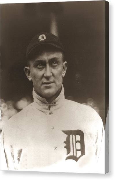 Ty Cobb Canvas Print - Ty Cobb 1915 by Unknown