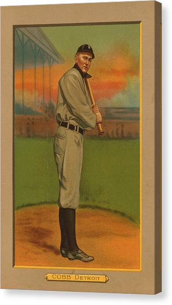 Ty Cobb Canvas Print - Ty Cobb Circa 1911 by George Pedro