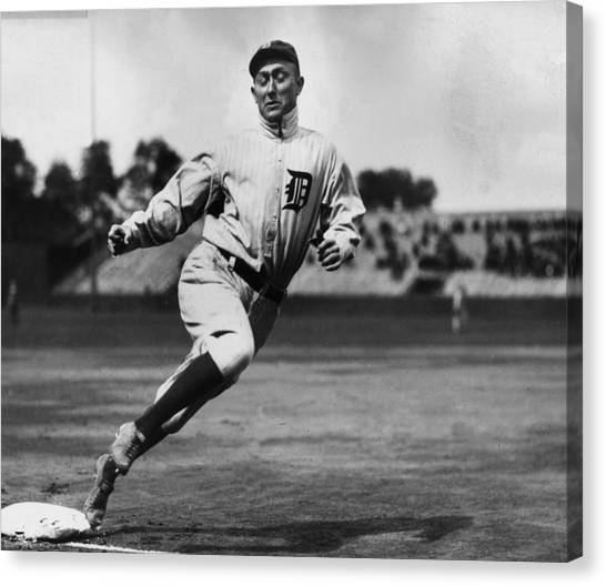 Detroit Tigers Canvas Print - Ty Cobb by Gianfranco Weiss
