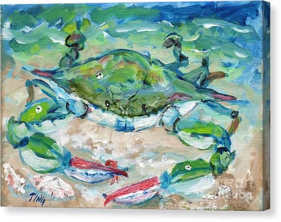 Tybee Blue Crab Mini Series Canvas Print